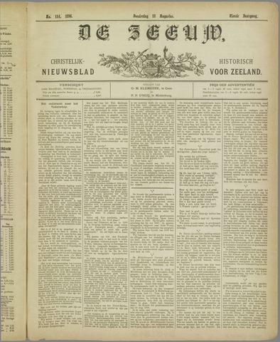 De Zeeuw. Christelijk-historisch nieuwsblad voor Zeeland 1896-08-13
