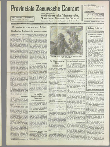 Provinciale Zeeuwse Courant 1940-07-24