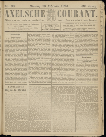 Axelsche Courant 1923-02-13