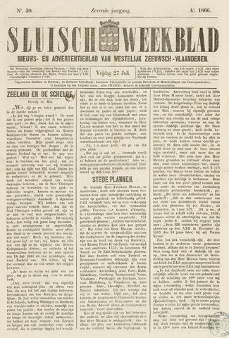Sluisch Weekblad. Nieuws- en advertentieblad voor Westelijk Zeeuwsch-Vlaanderen 1866-07-27