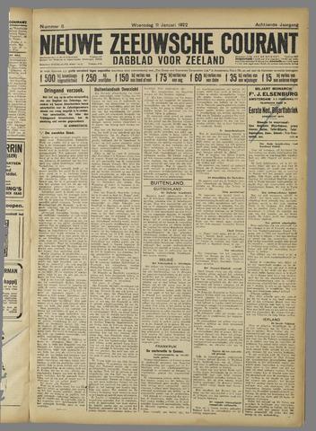 Nieuwe Zeeuwsche Courant 1922-01-11