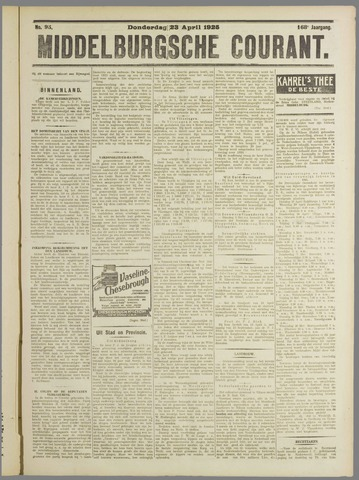 Middelburgsche Courant 1925-04-23