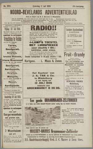 Noord-Bevelands Nieuws- en advertentieblad 1926-07-17