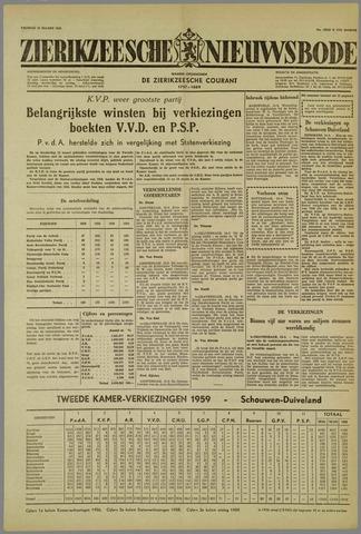 Zierikzeesche Nieuwsbode 1959-03-13