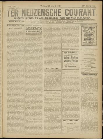 Ter Neuzensche Courant. Algemeen Nieuws- en Advertentieblad voor Zeeuwsch-Vlaanderen / Neuzensche Courant ... (idem) / (Algemeen) nieuws en advertentieblad voor Zeeuwsch-Vlaanderen 1926-04-16