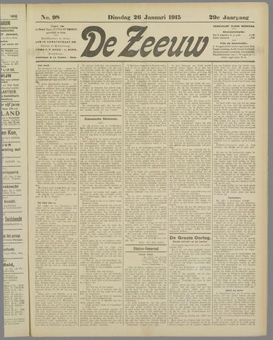 De Zeeuw. Christelijk-historisch nieuwsblad voor Zeeland 1915-01-26