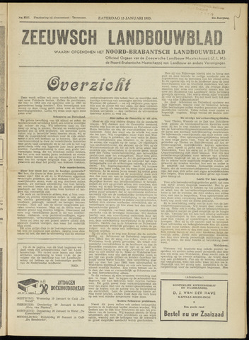 Zeeuwsch landbouwblad ... ZLM land- en tuinbouwblad 1955-01-15