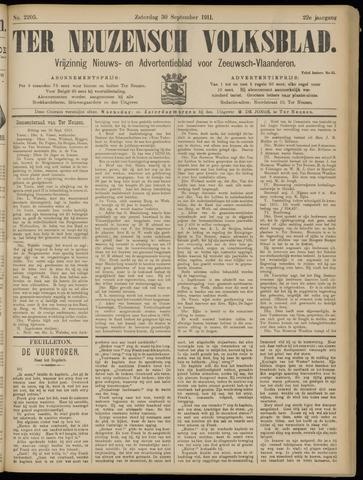Ter Neuzensch Volksblad. Vrijzinnig nieuws- en advertentieblad voor Zeeuwsch- Vlaanderen / Zeeuwsch Nieuwsblad. Nieuws- en advertentieblad voor Zeeland 1911-09-30