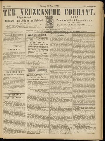 Ter Neuzensche Courant. Algemeen Nieuws- en Advertentieblad voor Zeeuwsch-Vlaanderen / Neuzensche Courant ... (idem) / (Algemeen) nieuws en advertentieblad voor Zeeuwsch-Vlaanderen 1905-06-06