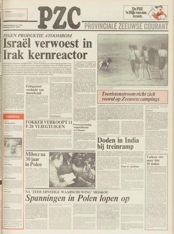 Provinciale Zeeuwse Courant 1981-06-09