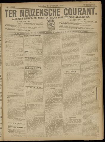 Ter Neuzensche Courant. Algemeen Nieuws- en Advertentieblad voor Zeeuwsch-Vlaanderen / Neuzensche Courant ... (idem) / (Algemeen) nieuws en advertentieblad voor Zeeuwsch-Vlaanderen 1917-02-24