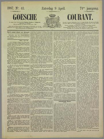 Goessche Courant 1887-04-09