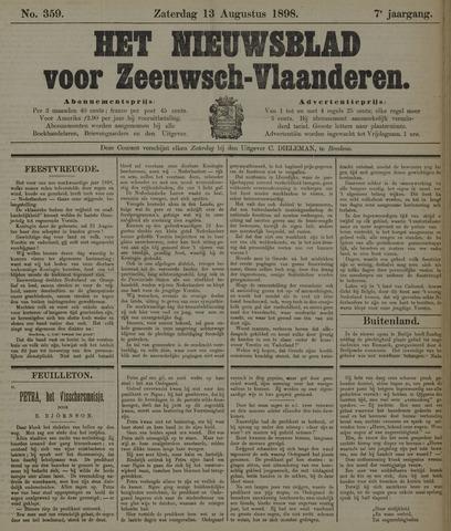 Nieuwsblad voor Zeeuwsch-Vlaanderen 1898-08-13