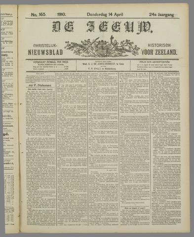 De Zeeuw. Christelijk-historisch nieuwsblad voor Zeeland 1910-04-14