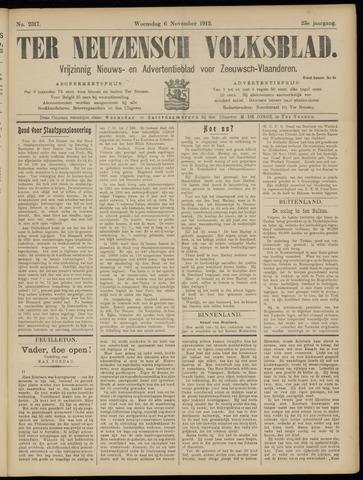 Ter Neuzensch Volksblad. Vrijzinnig nieuws- en advertentieblad voor Zeeuwsch- Vlaanderen / Zeeuwsch Nieuwsblad. Nieuws- en advertentieblad voor Zeeland 1912-11-06