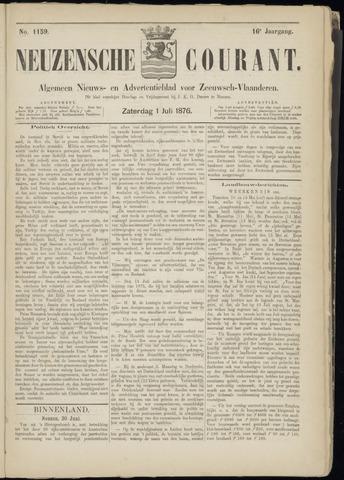 Ter Neuzensche Courant. Algemeen Nieuws- en Advertentieblad voor Zeeuwsch-Vlaanderen / Neuzensche Courant ... (idem) / (Algemeen) nieuws en advertentieblad voor Zeeuwsch-Vlaanderen 1876-07-01