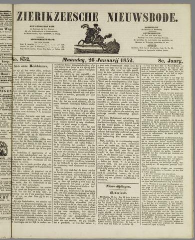 Zierikzeesche Nieuwsbode 1852-01-26
