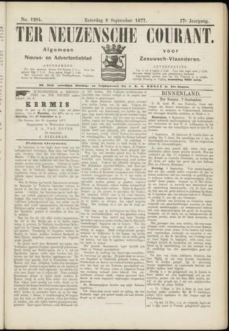Ter Neuzensche Courant. Algemeen Nieuws- en Advertentieblad voor Zeeuwsch-Vlaanderen / Neuzensche Courant ... (idem) / (Algemeen) nieuws en advertentieblad voor Zeeuwsch-Vlaanderen 1877-09-08