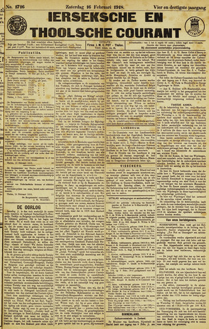 Ierseksche en Thoolsche Courant 1918-02-16