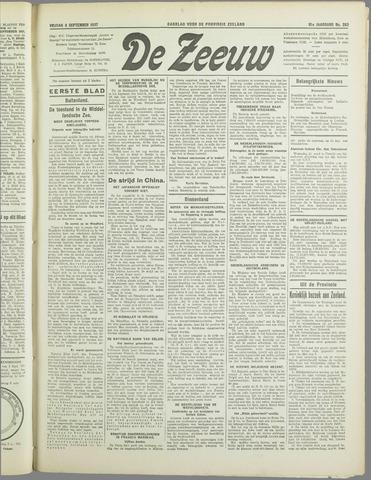 De Zeeuw. Christelijk-historisch nieuwsblad voor Zeeland 1937-09-03