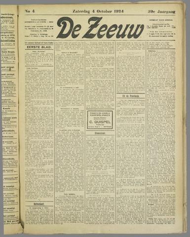 De Zeeuw. Christelijk-historisch nieuwsblad voor Zeeland 1924-10-04