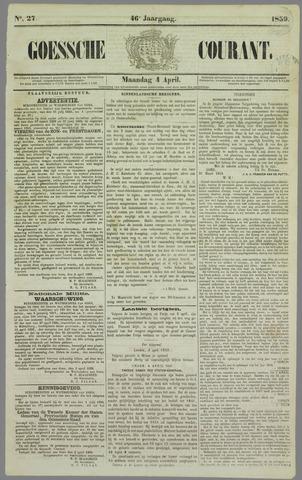 Goessche Courant 1859-04-04
