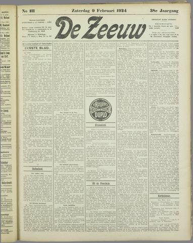 De Zeeuw. Christelijk-historisch nieuwsblad voor Zeeland 1924-02-09