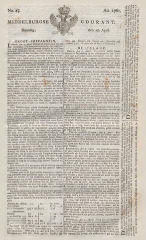 Middelburgsche Courant 1761-04-18