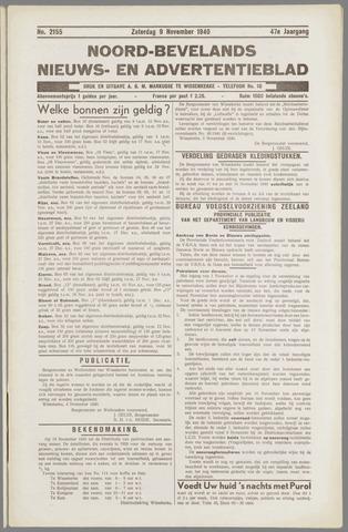 Noord-Bevelands Nieuws- en advertentieblad 1940-11-09