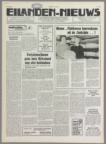 Eilanden-nieuws. Christelijk streekblad op gereformeerde grondslag 1980-06-27