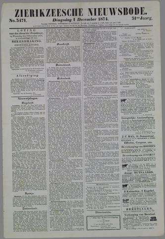 Zierikzeesche Nieuwsbode 1874-12-01