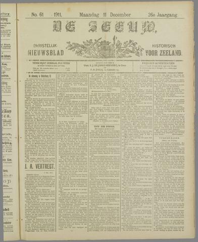 De Zeeuw. Christelijk-historisch nieuwsblad voor Zeeland 1911-12-11