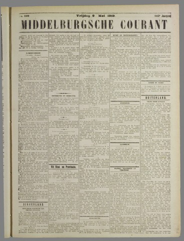 Middelburgsche Courant 1919-05-09