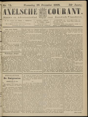 Axelsche Courant 1918-12-18