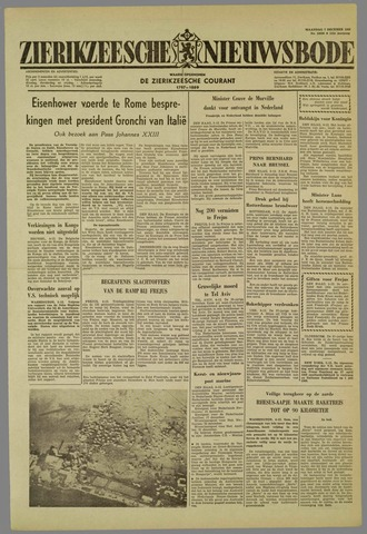 Zierikzeesche Nieuwsbode 1959-12-07