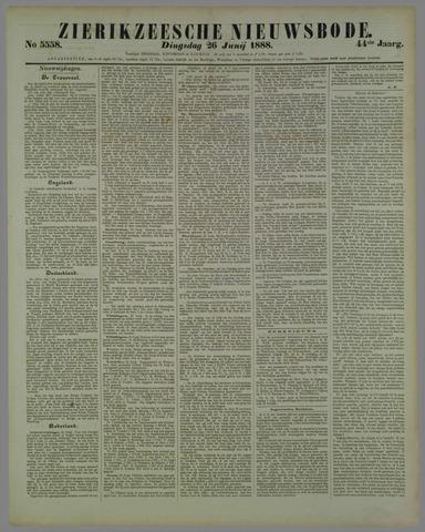 Zierikzeesche Nieuwsbode 1888-06-26