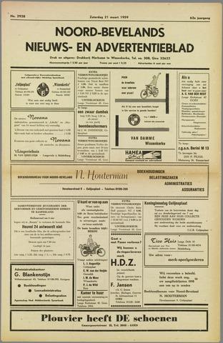 Noord-Bevelands Nieuws- en advertentieblad 1959-03-21