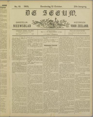 De Zeeuw. Christelijk-historisch nieuwsblad voor Zeeland 1905-10-12