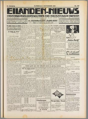 Eilanden-nieuws. Christelijk streekblad op gereformeerde grondslag 1938-11-05