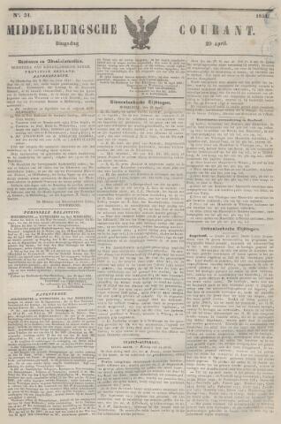 Middelburgsche Courant 1851-04-29