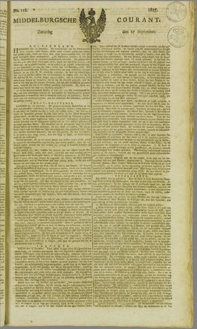 Middelburgsche Courant 1817-09-27