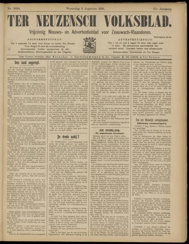 Ter Neuzensch Volksblad. Vrijzinnig nieuws- en advertentieblad voor Zeeuwsch- Vlaanderen / Zeeuwsch Nieuwsblad. Nieuws- en advertentieblad voor Zeeland 1916-08-09