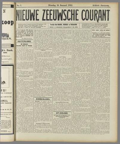 Nieuwe Zeeuwsche Courant 1912-01-16