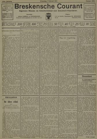 Breskensche Courant 1934-02-07