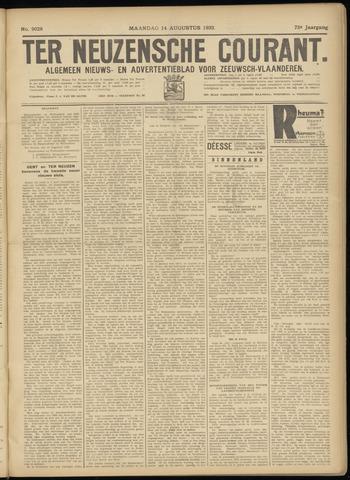 Ter Neuzensche Courant. Algemeen Nieuws- en Advertentieblad voor Zeeuwsch-Vlaanderen / Neuzensche Courant ... (idem) / (Algemeen) nieuws en advertentieblad voor Zeeuwsch-Vlaanderen 1933-08-14