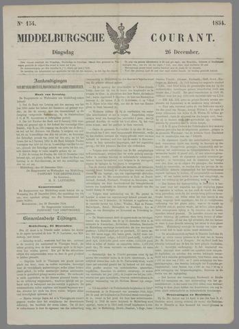 Middelburgsche Courant 1854-12-26