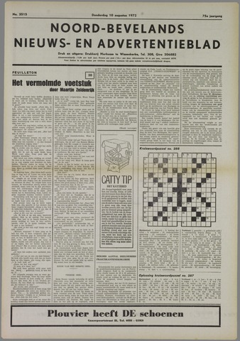 Noord-Bevelands Nieuws- en advertentieblad 1972-08-10
