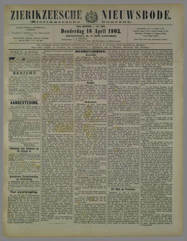 Zierikzeesche Nieuwsbode 1903-04-16
