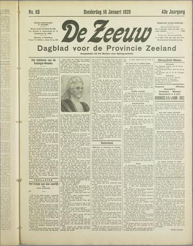 De Zeeuw. Christelijk-historisch nieuwsblad voor Zeeland 1929-01-10