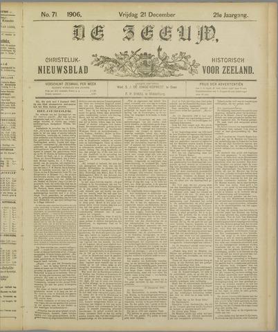 De Zeeuw. Christelijk-historisch nieuwsblad voor Zeeland 1906-12-21